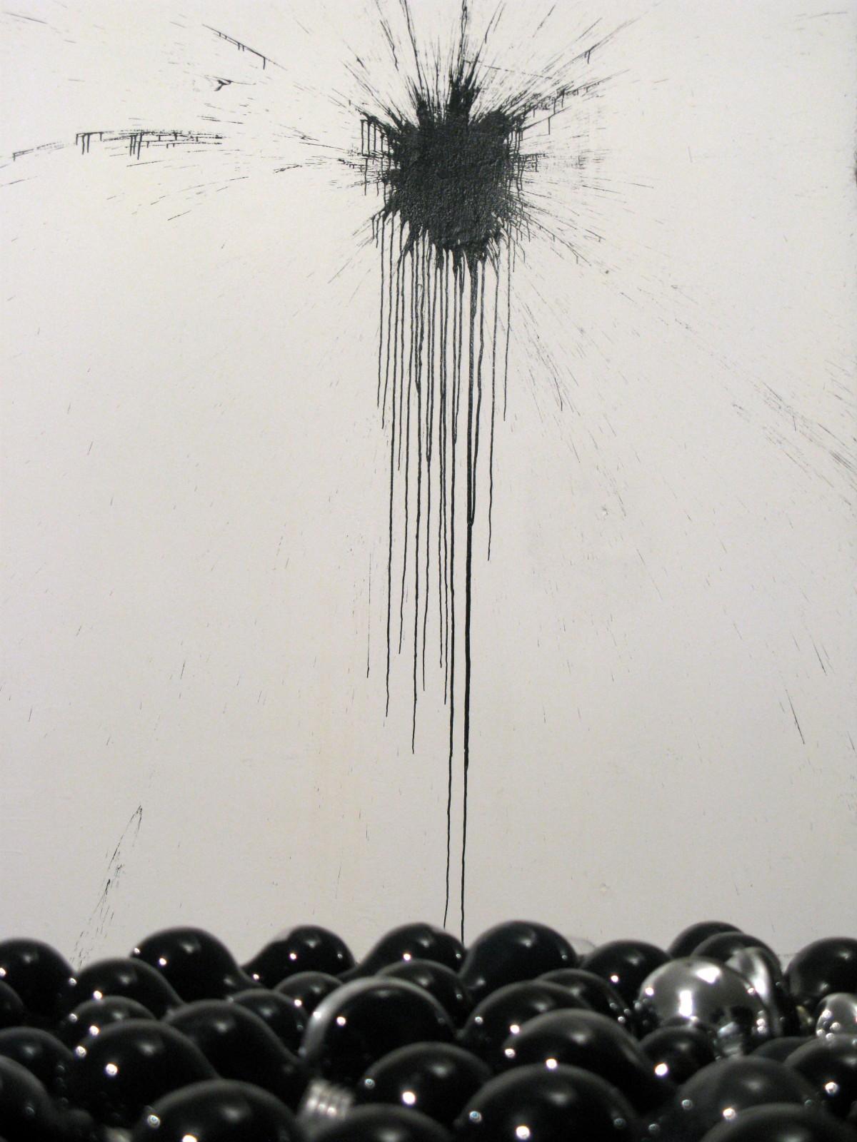 Oskar Dawicki, Bez tytułu, 2014, farba akrylowa, żarówki