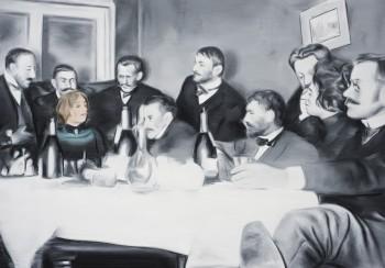 Marcin Maciejowski, Adoration (Dagny Przybyszewska), 2014, oil on canvas, 100 x 140 cm