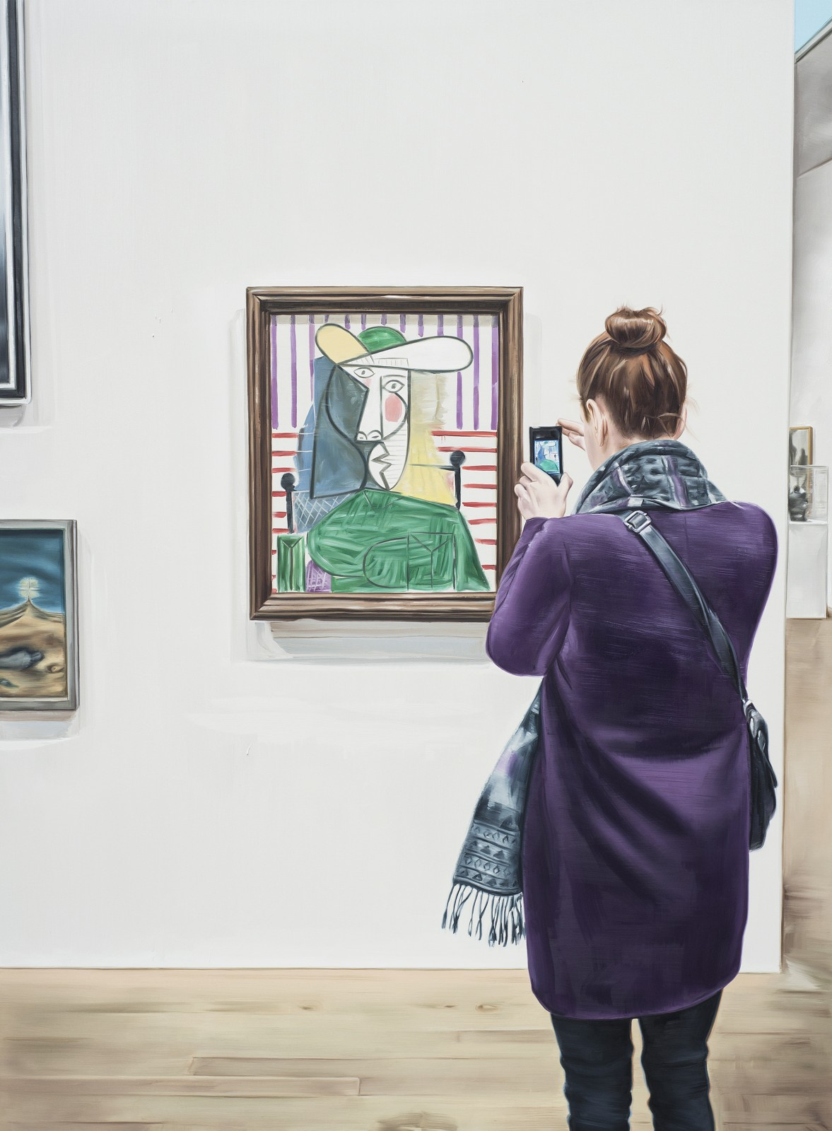Marcin Maciejowski, Bust of a Woman (1944), 2014, oil on canvas, 190 x 140 cm