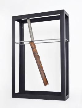 Olaf Brzeski, The Life of a Pipe, 2017, metal, 90 x 60 x 20 cm